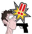 Crimen comic symbol vector image