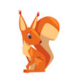 cute funny squirrel little rodent animal cartoon vector image vector image