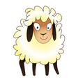 cute sheep icon cartoon style vector image vector image