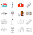 design of pharmacy and hospital sign set vector image vector image