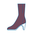 elegant heeled boots icon vector image