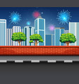 fireworks in celebration event with many fireworks vector image