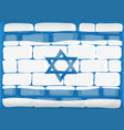 flag of israel painted on the wall vector image vector image