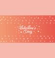 happy valentines day handwritten text vector image vector image