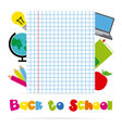 icons of education vector image