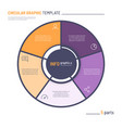 Infographic circle chart template five