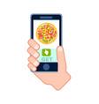 italian pizza delivery service icon vector image