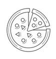 italian pizza line icon vector image