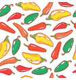 jalapeno pepper seamless pattern doodle vector image vector image