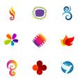 logo design elements set 24 vector image vector image