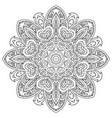 mandala doodle drawing floral round ornament vector image vector image