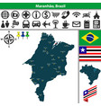 map of maranhao brazil vector image vector image