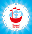 maritime transport design vector image