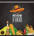 mexican food menu card vector image