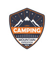 nature camping vintage isolated badge vector image vector image