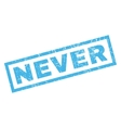 Never Rubber Stamp vector image vector image