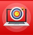 online media target audience digital marketing vector image vector image
