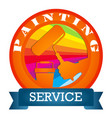 painting with a roller symbol vector image vector image