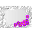 paper card with wild flowers vector image vector image