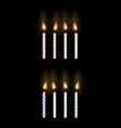 party candle on a black background vector image