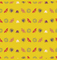 pastel colorful leaves and flowers pattern vector image