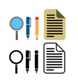 pen pencil and paper icon vector image vector image