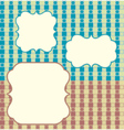 plaid retro background vector image vector image