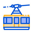 Public transport aerial lift thin line icon