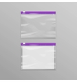 Purple Sealed Transparent Plastic Zipper Bags vector image vector image