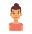 Sadness woman vector image vector image