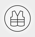 safety vest icon editable thin line vector image
