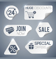 sale and retail grey labels set vector image vector image