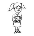 school girl cartoon vector image vector image