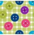 Seamless background with clothing Buttons on vector image vector image