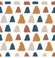 seamless pattern with bold triangle paint vector image