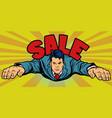 serious businessman flies sales vector image vector image