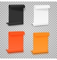 set folded paper sheets template realistic vector image