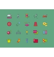 set icons creative sewing flat style vector image