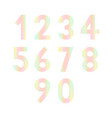 set of numbers for design vector image