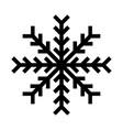 snowflake icon or logo christmas and winter theme vector image