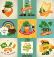 St Patricks Icon Set vector image