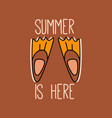 summer concept design with flippers vector image vector image