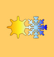 sun with snowflake hydrometeorology the cold vector image
