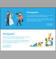 wedding photographer and family photosession vector image vector image
