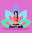 woman doing yoga lotus position inner peace vector image