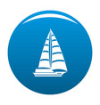 yacht modern icon blue vector image