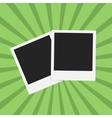 Flat photo frame web icon vector image