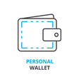 personal wallet concept outline icon linear vector image
