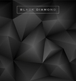 abstract black diamond polygon background vector image vector image