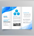 abstract blue brochure design template design vector image vector image